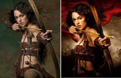 """Um dos exemplos de foto em que o corpo da atriz foi retocado digitalmente é o cartaz do filme """"Rei Arthur"""""""