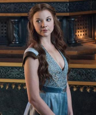 "Natalie Dormer como a Margaery Tyrell de ""Game of Thrones"""