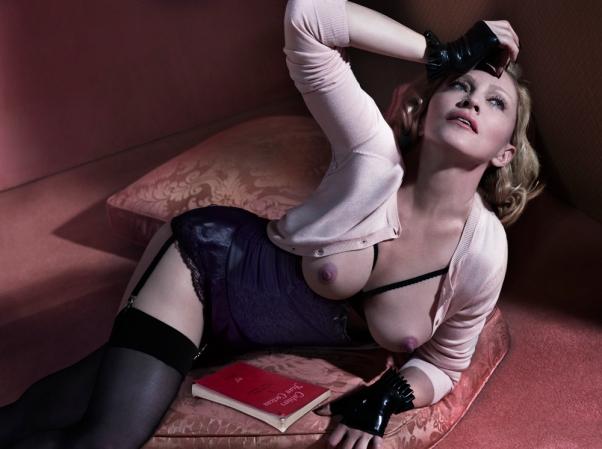 Madonna em ensaio para a revista Interview (Marcus Piggott, Mert Alas/Interview)