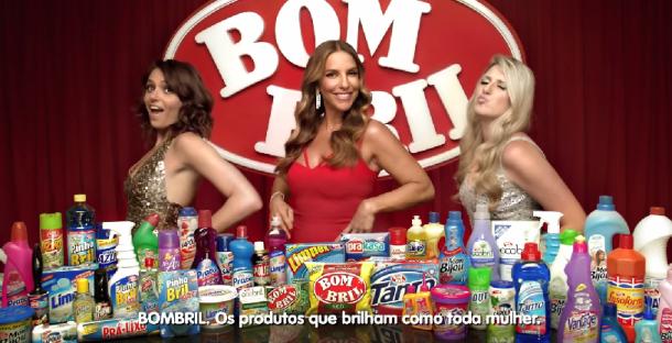 Imagem da propaganda da Bombril com Mônica Iozzi, Ivete Sangalo e Dani Calabresa