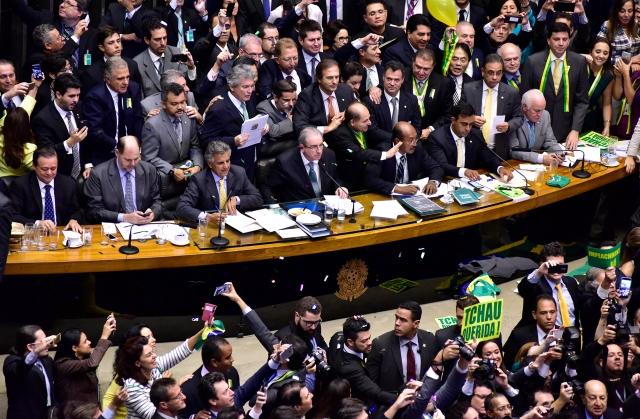 17.abr.2016 - Sessão especial para votação da abertura do processo de impeachment da presidente Dilma Rousseff (Imagem: Câmara dos Deputados)